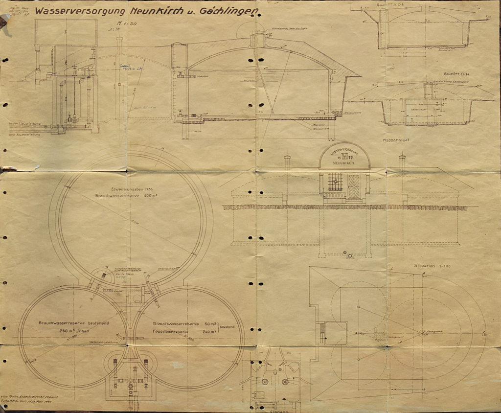 Chnübrechi Ingenieursplan 1940